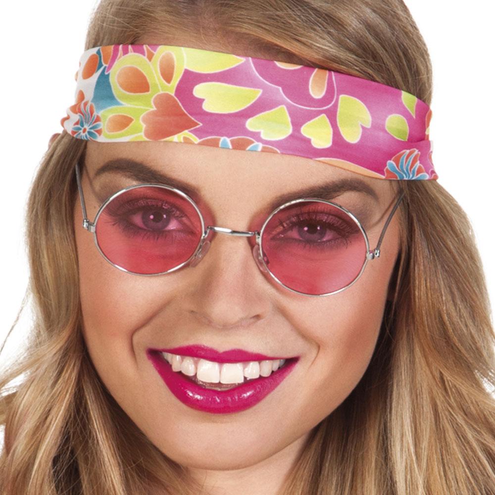 Brýle - Lenonky - Růžové - stříbrné obroučky