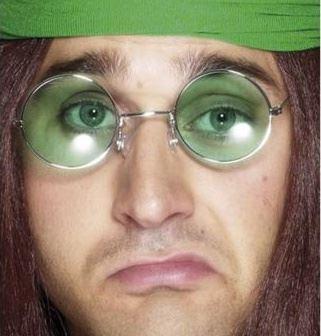 Brýle - Lenonky - Zelené