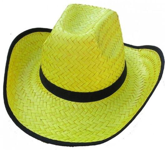 Slaměný klobouk - Žlutý slamák Safari