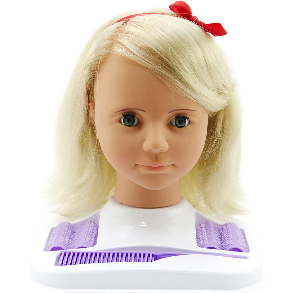 Velká česací hlava Hamiro blond s doplňky