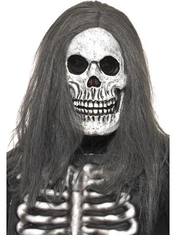 Maska - Lebka s šedými vlasy