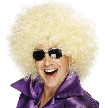 Paruka kudrnatá afro blond vlasy