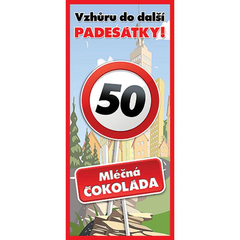 Dárková čokoláda k 50. narozeninám