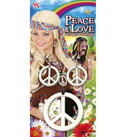 Sada Hippies - Přívěšek a náušnice - plastová