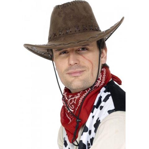 Hnědý kovbojský klobouk pro dospělé