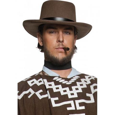 Luxusní kovbojský klobouk pistolníka - hnědý