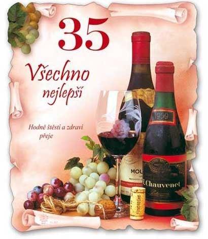 přání k narozeninám 35 Narozeninové přání k 35. narozeninám s obálkou přání k narozeninám 35