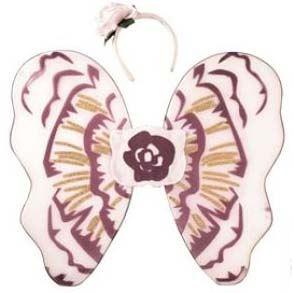 Dětská sada na karneval - doplňky motýl fialovobílý