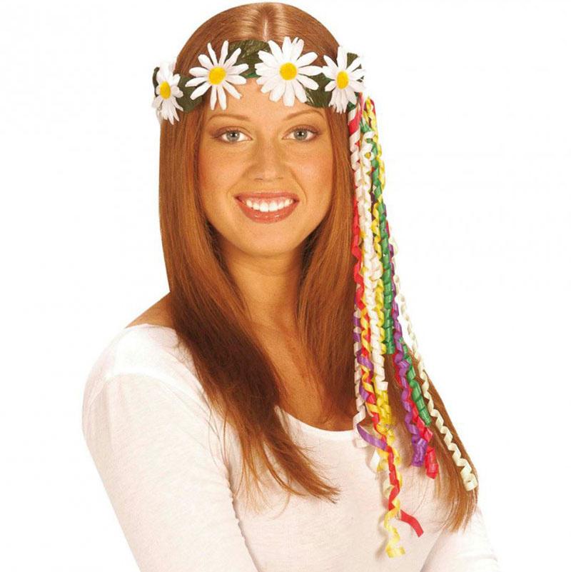 c33bcb77be3 Květinová čelenka retro hippies - Sedmikrásky