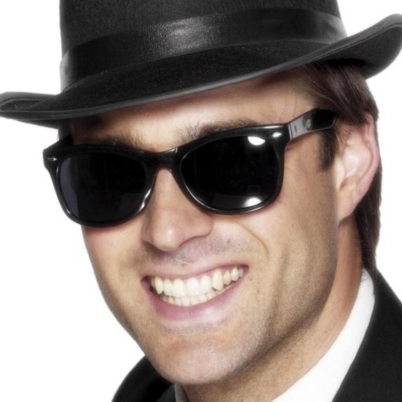 Gangsterské brýle černé s tmavými skly