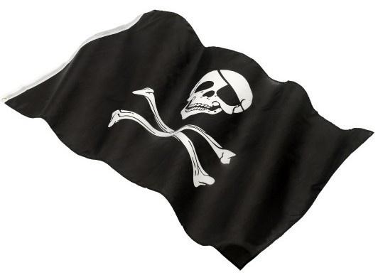 Pirátská vlajka - 90 x 150 cm