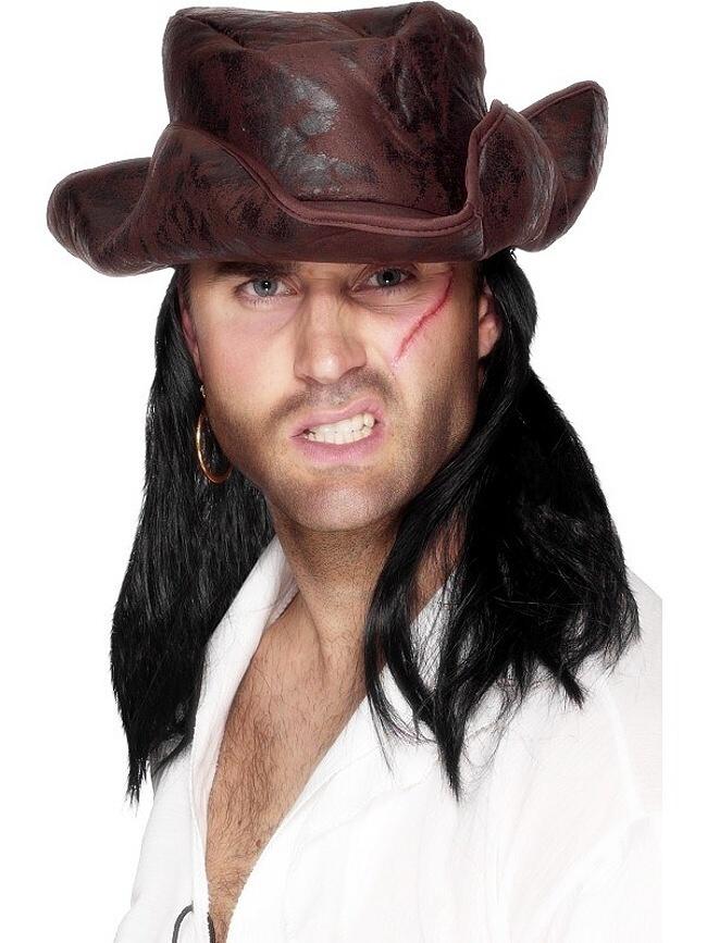 Piratsky klobouk imitace kuze - Cochces.cz da1acebcd8