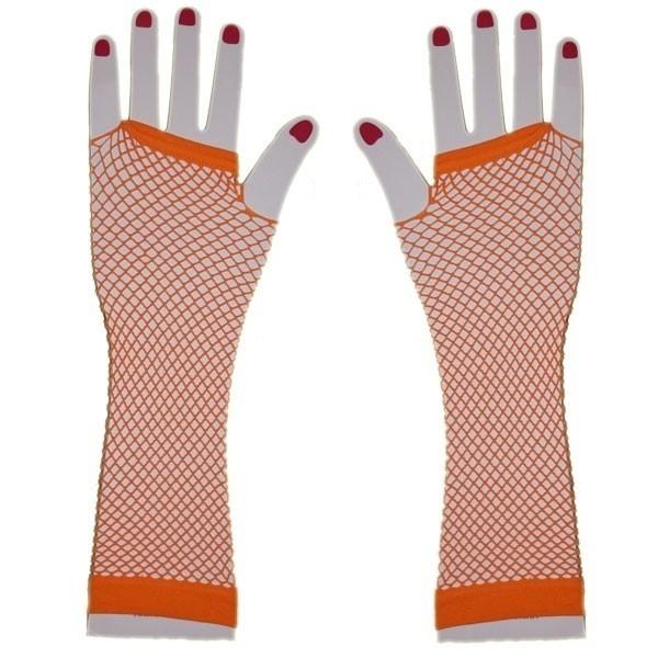 Dámské síťované rukavice - oranžové