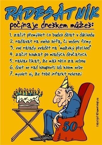 přání k narozeninám 50 vtipné Přání k 50. narozeninám pro muže padesátníka přání k narozeninám 50 vtipné