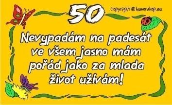 verš k 50 narozeninám Darecek k narozeninam 50   Cochces.cz verš k 50 narozeninám