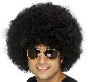 Paruka - Funky Afro - černá kudrnatá paruka