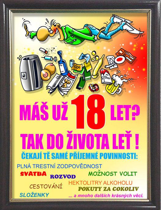 blahopřání k 18 narozeninám Vtipný dárek k 18. narozeninám   rámeček s textem blahopřání k 18 narozeninám