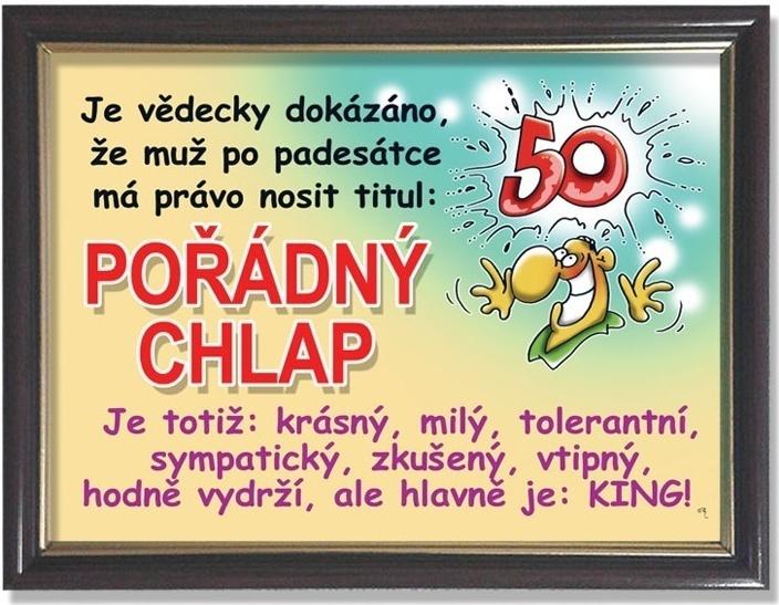 blahopřání k 50 narozeninám pro muže Rámeček k 50. narozeninám   Pořádný chlap blahopřání k 50 narozeninám pro muže