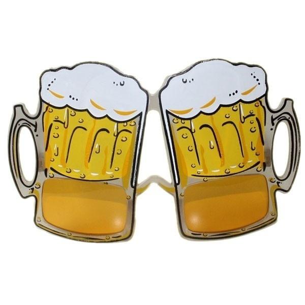 Pivní brýle s pěnou