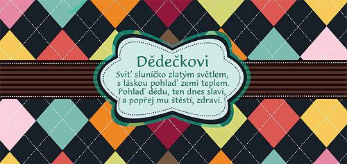 přání k narozeninám dědovi Dárková mléčná čokoláda 100 g   dědečkovi přání k narozeninám dědovi