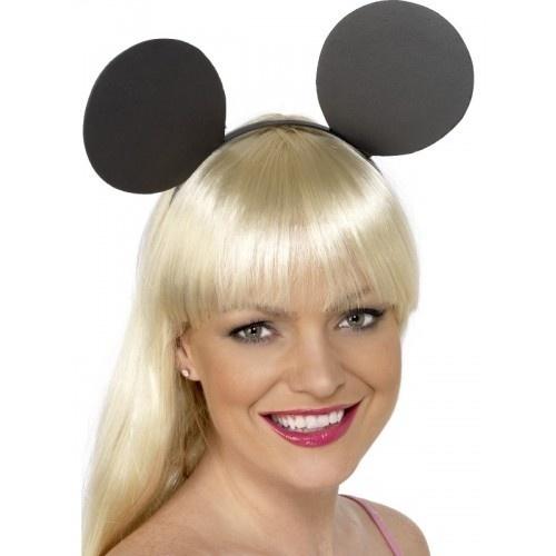 Gumové uši na čelence - Černá myš 755b420f5c