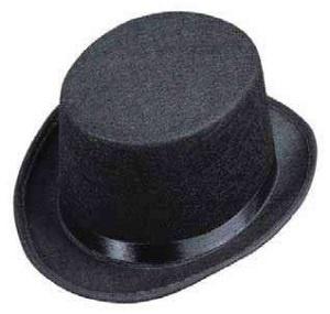 b98450fd91a Dětský klobouk - Cylindr černý plstěný