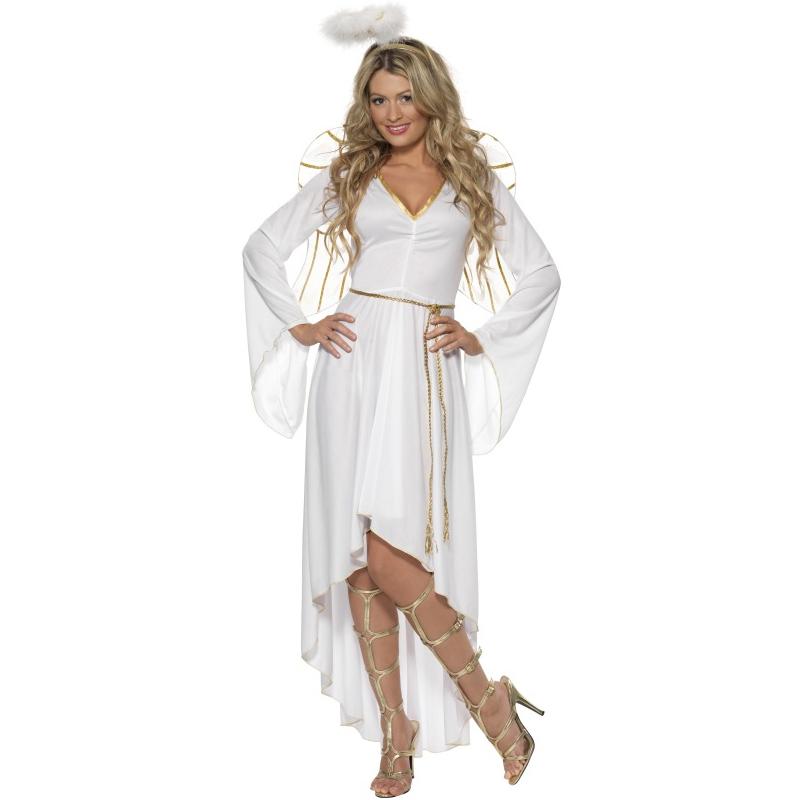 Kostým - Bílý anděl včetně křídel
