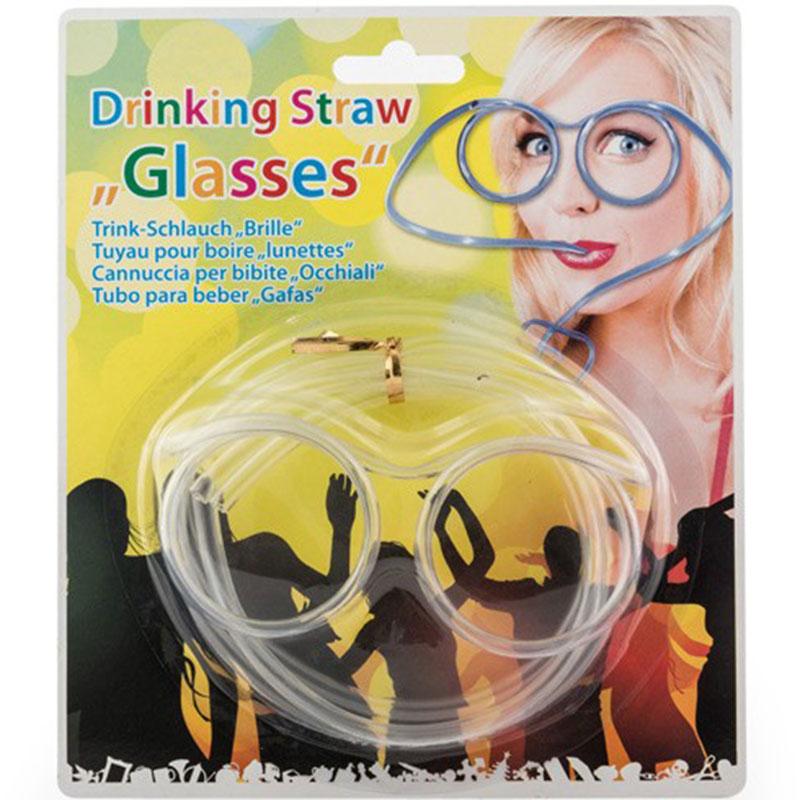 Párty brčkové brýle průhledné