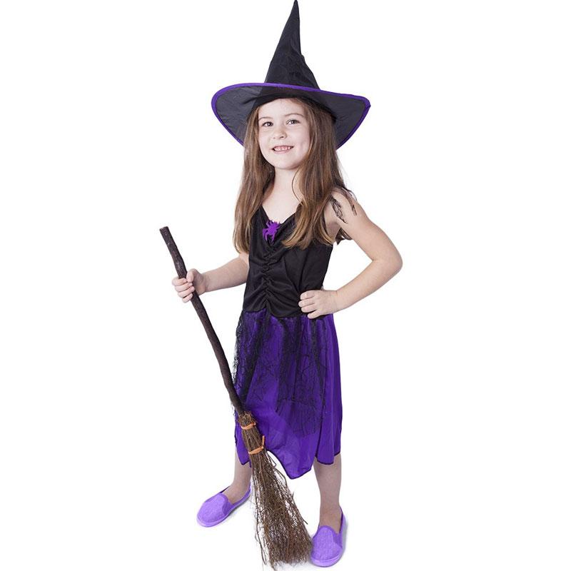 Dívčí kostým - Fialová čarodějnice 4-6 let