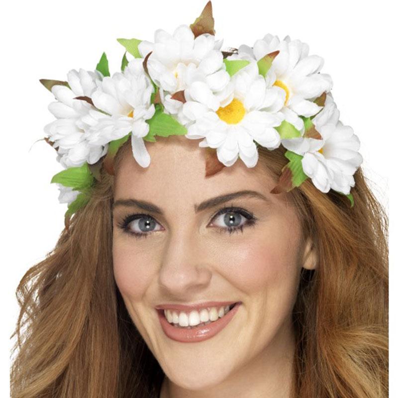 538ac68ba42 Čelenka s květy sedmikrásky