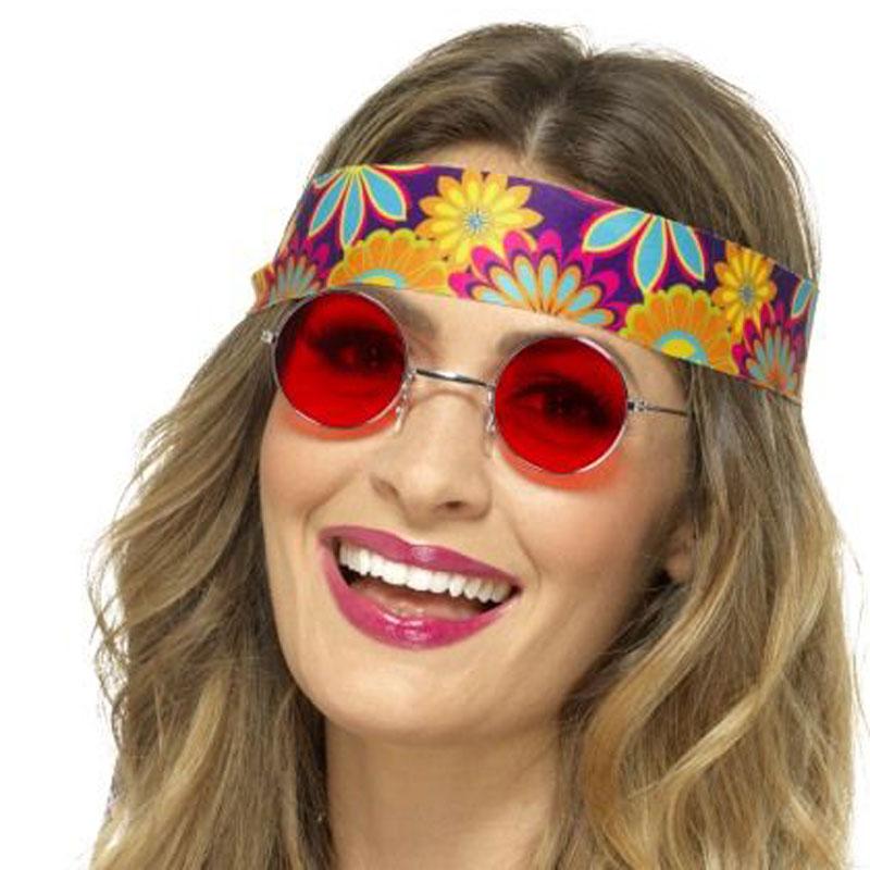 Hippies brýle - červené lenonky