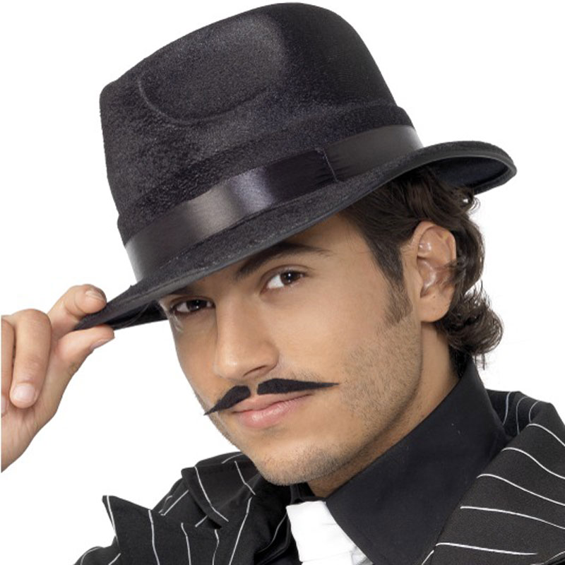 Černý pánský klobouk s černou stuhou 542deb06dd