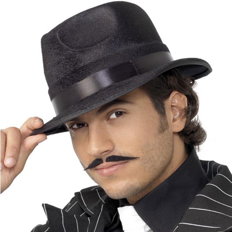 88b6542d856 Černý pánský klobouk s černou stuhou