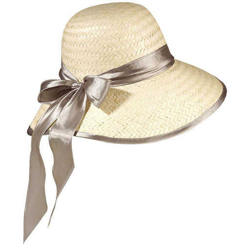 Dámský klobouk slamák Chicago - stříbrná stuha 02bdcbd7dc