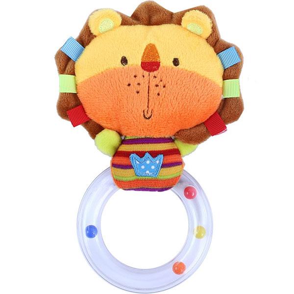 Plyšové chrastítko s kruhem BABY lvíček