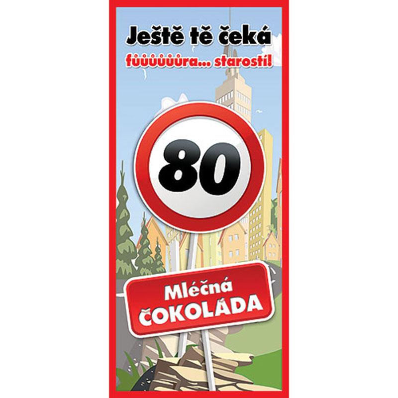 Dárková čokoláda k 80. narozeninám