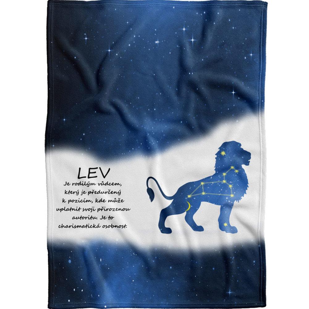 Deka pro znamení Lva - modrá