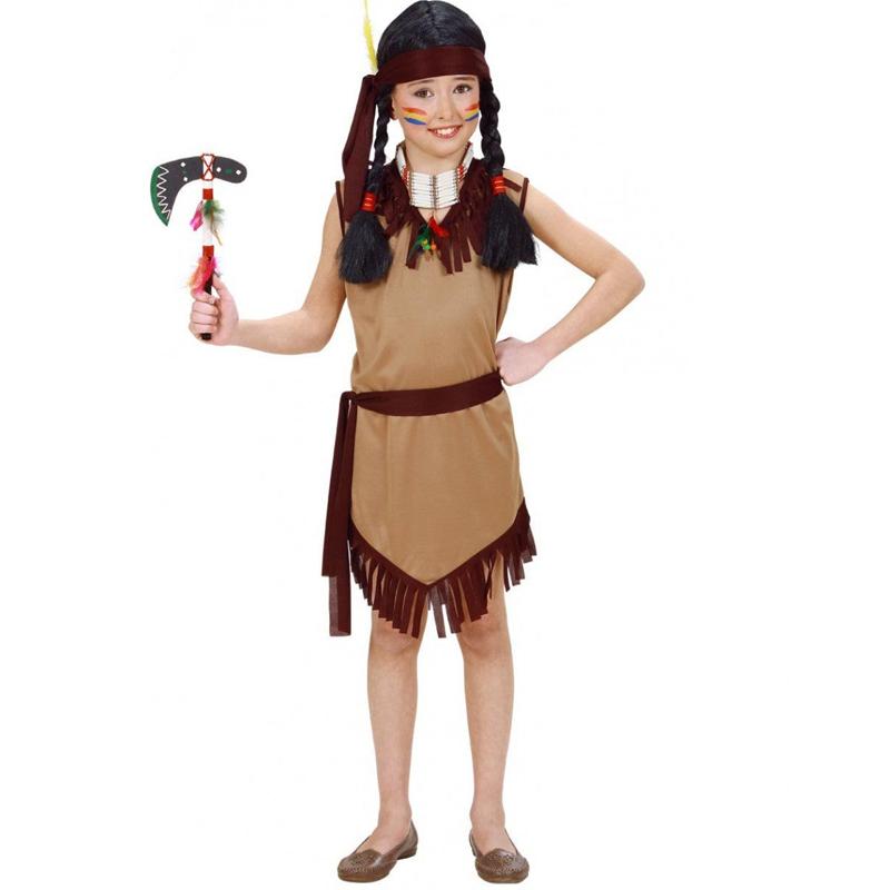 Dětský kostým na maškarní - Krásná indiánka