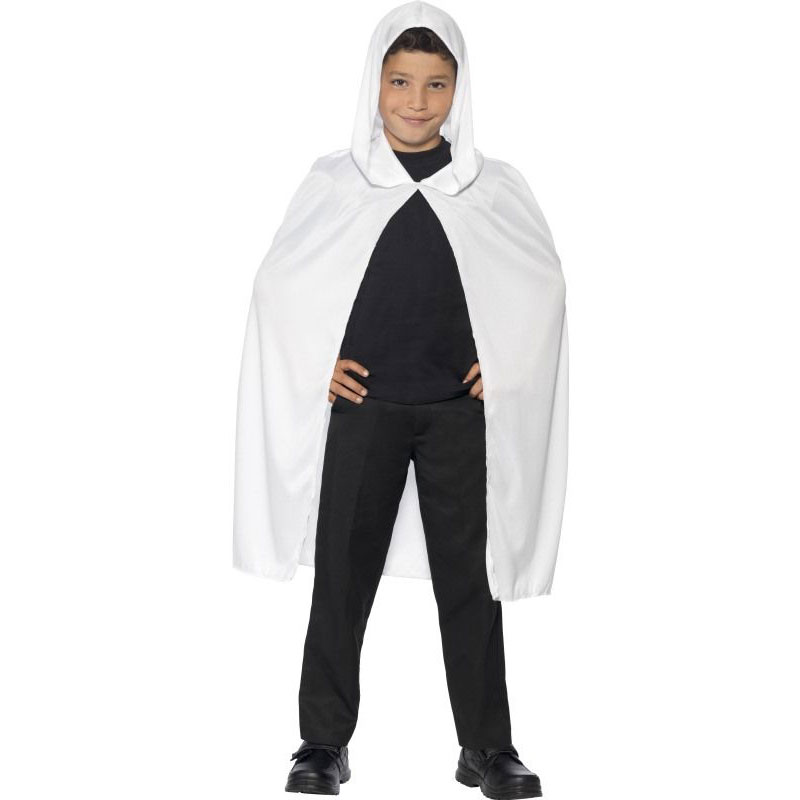 Dětský plášť s kapucí - bílý