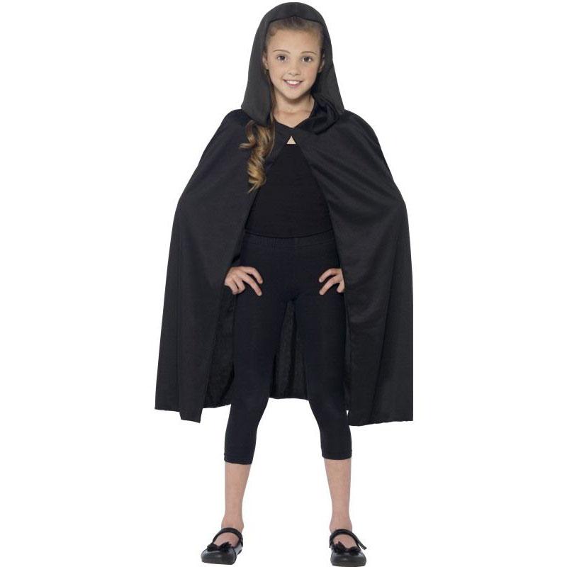 Dětský plášť s kapucí - černý