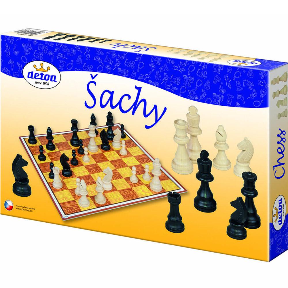 Šachy dřevěné - společenská hra