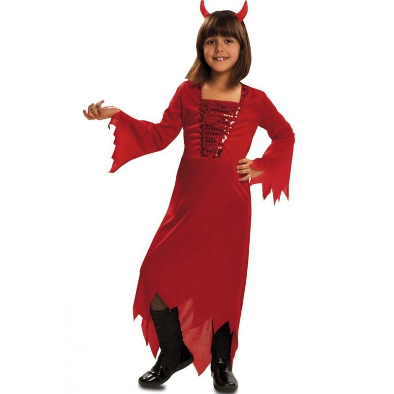 Dětský karnevalový kostým - Šaty čertice 3-4 roky Viving costumes