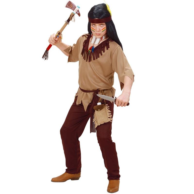 Dětský kostým na maškarní - Indián 8-10 let Widmann