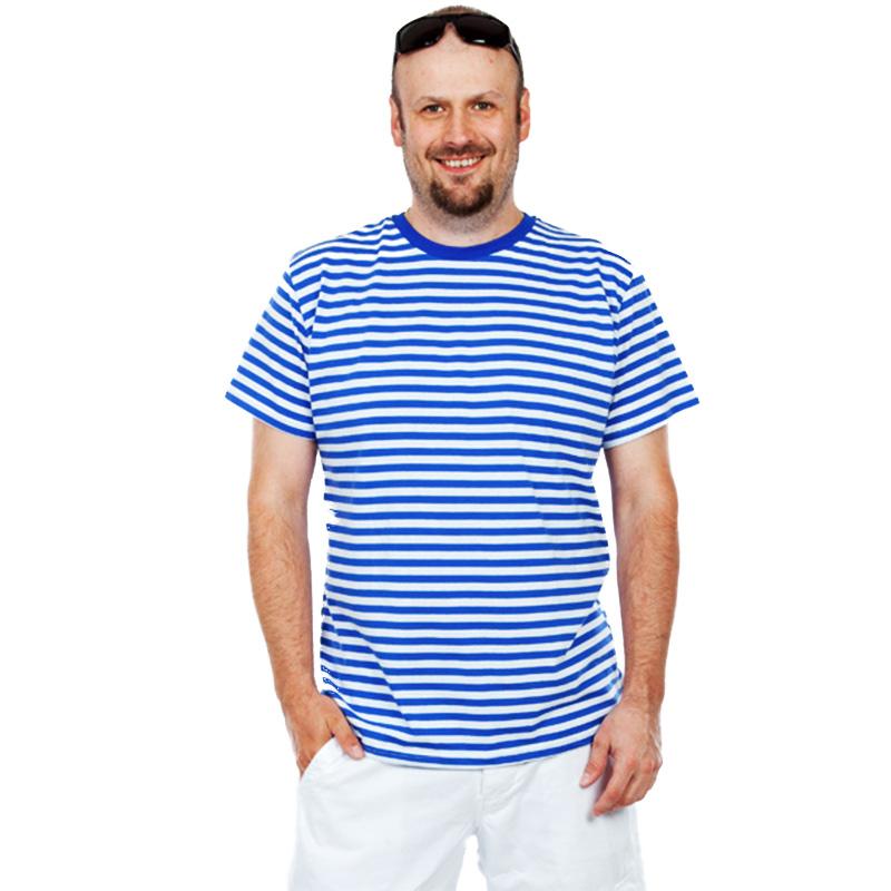 Pánské kvalitní námořnické tričko pruhované XXL DIVJA