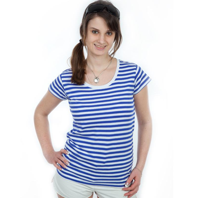Dámské námořnické pruhované tričko na vodu XXL DIVJA