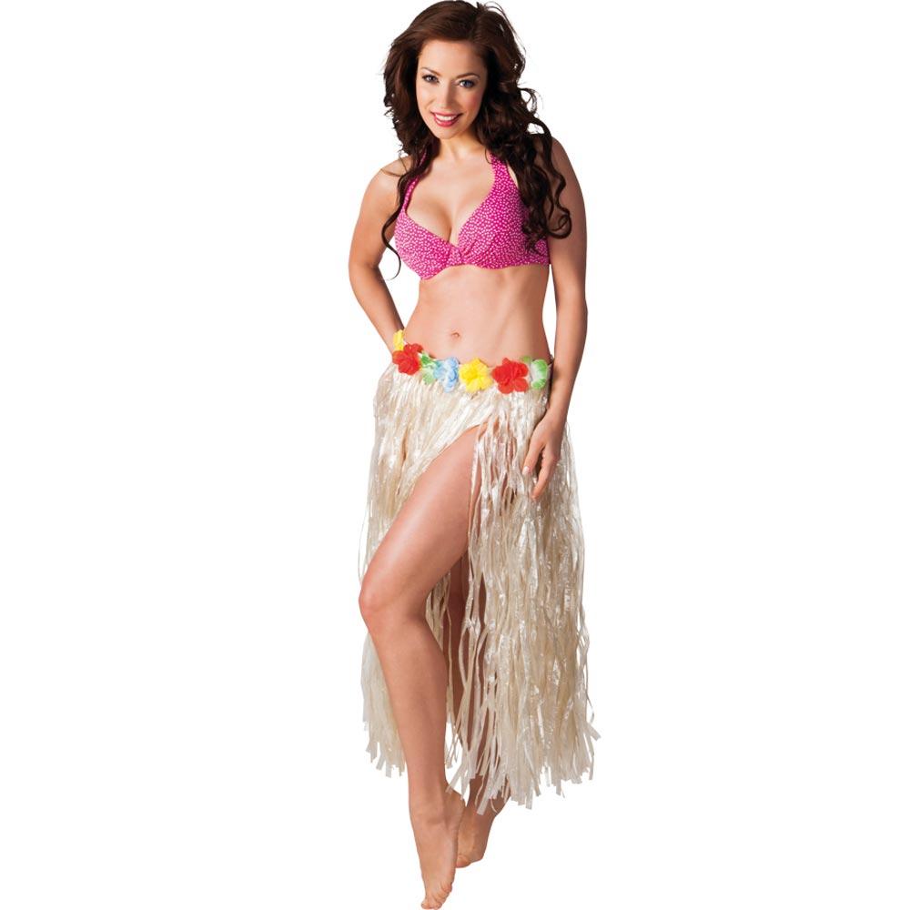 Havajská sukně přírodní vzhled - dlouhá
