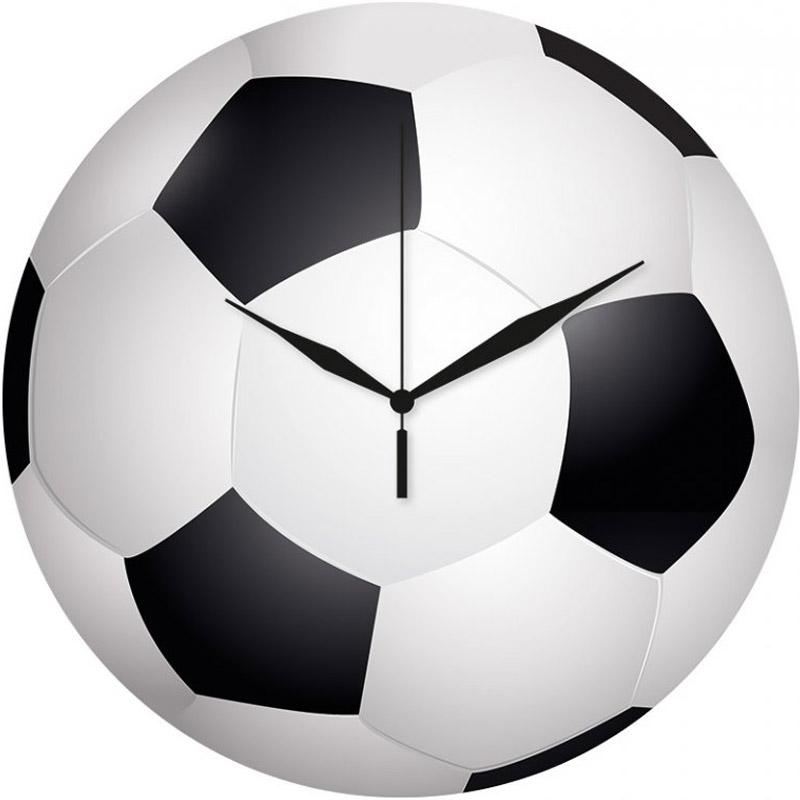 Fotbalové hodiny kulaté