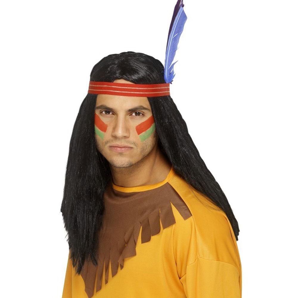 edf3b12ec36 Indiánská paruka s čelenkou pro indiány