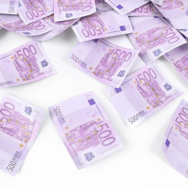 Vystřelující konfety - potisk bankovka