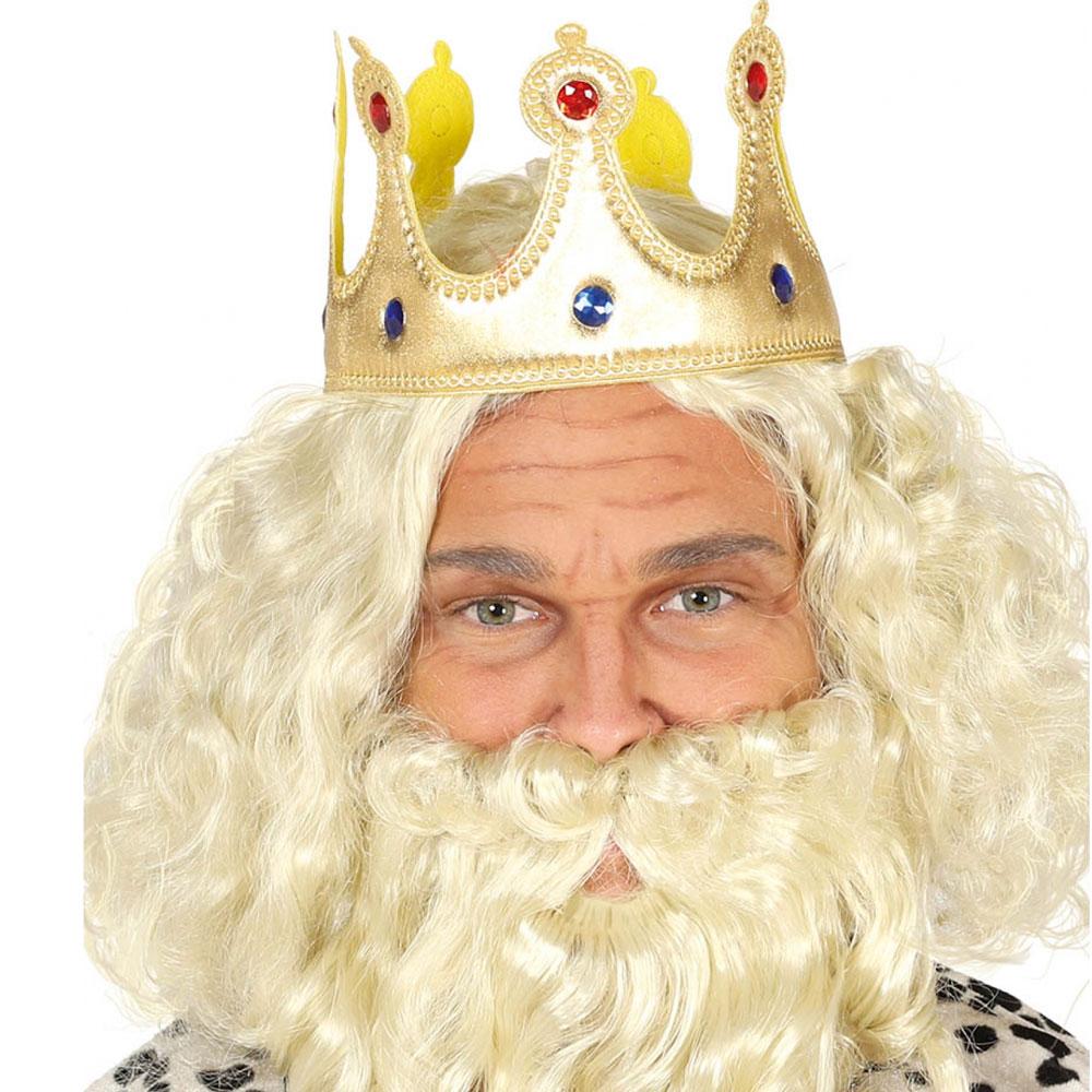 Koruna král - látka zlaté barvy